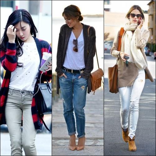 5 cách phối đồ với áo cardigan